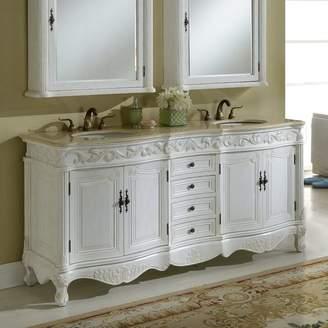 "Astoria Grand Alexis 72"" Double Bathroom Vanity Set Base"