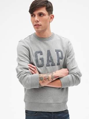 Gap Marled Logo Crewneck Pullover Sweatshirt