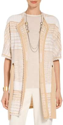 St. John Mixed Floats Stripe Knit Jacket