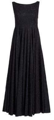 Alaia Mussola Broderie Grand Iris A-Line Dress