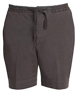 Officine Generale Men's Cotton Drawstring Shorts