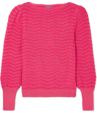 MiH Jeans Celia Pointelle-knit Mohair-blend Sweater