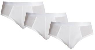 Cdlp - Set Of Three Stretch Jersey Briefs - Mens - White