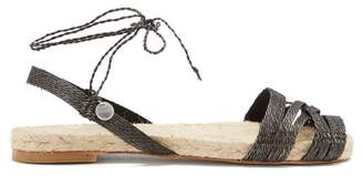 Ball Pagès Ball Pages - Doble Cross Hemp Slingback Espadrilles - Womens - Black