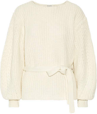 Sea Cable-knit Sweater - Ivory