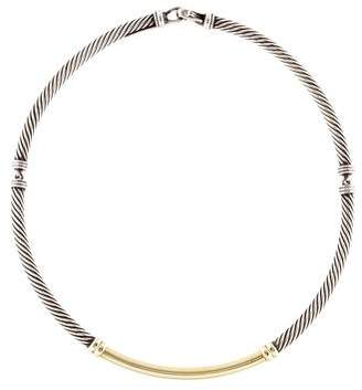 David Yurman Two-Tone Metro Cable Collar Necklace