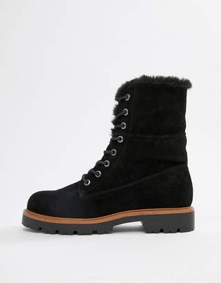 Asos Design DESIGN Apex suede hiker lace up boots