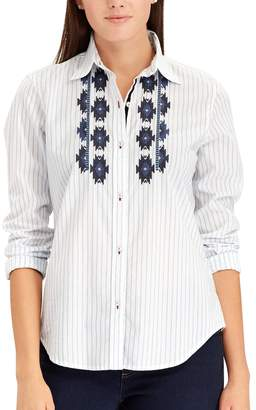 Chaps Women's Embroidered Button-Down Shirt