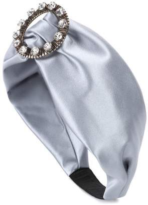 Miu Miu Embellished satin headband