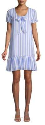 AVEC LES FILLES Striped Shift Dress