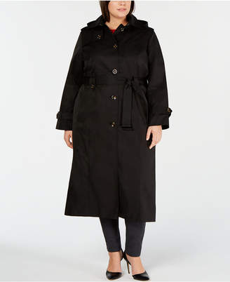 45799ec7f1e79 London Fog Plus Size Single-Breasted Trench Coat