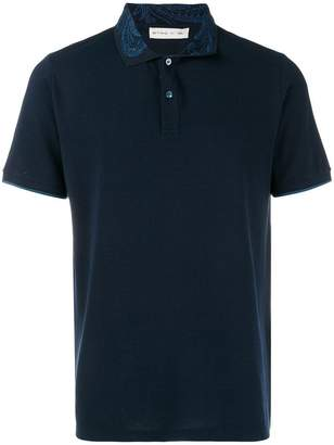 Etro collar print polo shirt