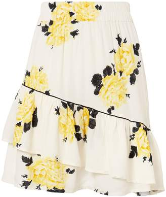 Ganni Silvery Crepe Mini Skirt