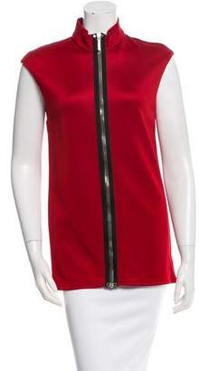 Anthony Vaccarello Mock Neck Sleeveless Top w/ Tags