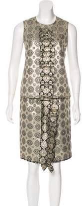 Prada Metallic Skirt Set