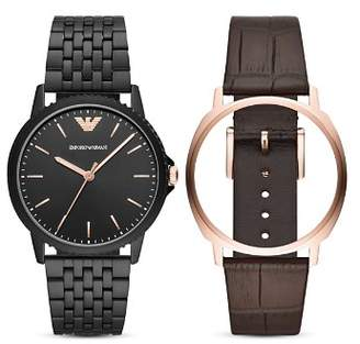 Emporio Armani Three-Hand Watch, 41mm with Interchangeable Strap Gift Set