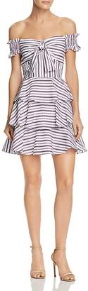 Lucy Paris Gemma Off-the-Shoulder Striped Dress - 100% Exclusive