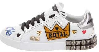 Dolce & Gabbana White Kings Of Love Sneakers