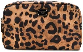 Dolce & Gabbana leopard print make-up pouch