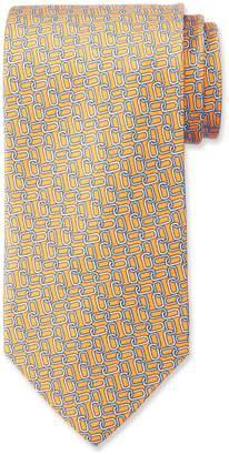Neiman Marcus Men's Paper Clip Link Pattern Silk Tie