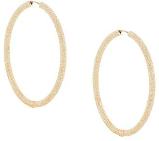 Carolina Bucci 18kt yellow gold Florentine Finish extra large thick oval hoops