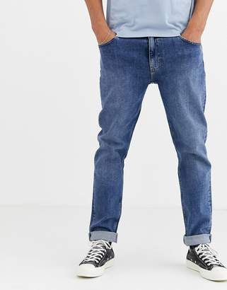 Weekday Sunday relaxed tapered comfort fit jeans in blue
