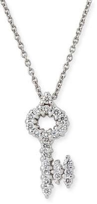 Roberto Coin Tiny Treasures Diamond Key Pendant Necklace