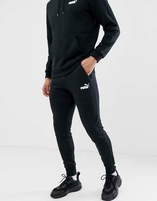 Essentials skinny fit joggers in black