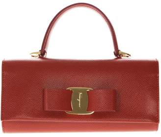 Salvatore Ferragamo Red Leather Versatile Handbag
