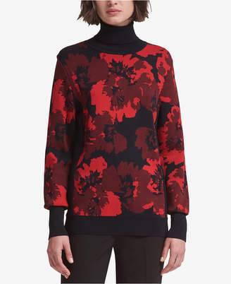 DKNY Printed Turtleneck Sweater