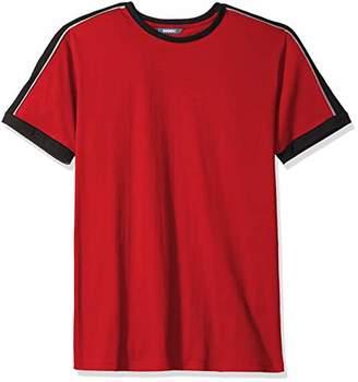 ROBUST Men's Round Neck Half Sleeve Colorblock T-Shirt (Size-)