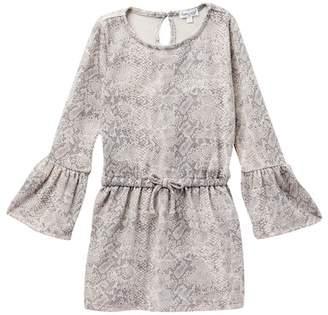 Splendid Snake Print Loose Knit Dress (Toddler Girls)