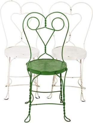 Vintage Set of 3 Wrought Iron Side Chairs
