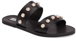Women's Steve Madden Jole Embellished Slide Sandal $69.95 thestylecure.com