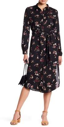 Everly Button Floral Dress