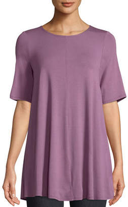 Eileen Fisher Short-Sleeve Jersey Tunic, Plus Size