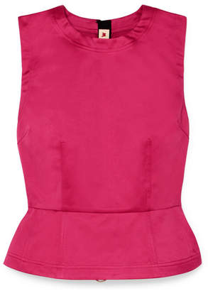 Marni Cotton-sateen Peplum Top - Pink