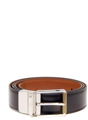 Dunhill Leather Belt - Mens - Black