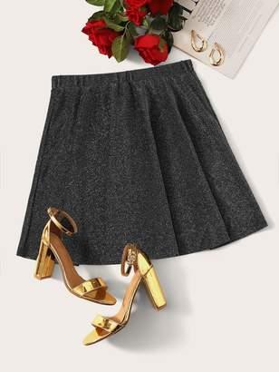 Shein High Waist Glitter Skater Skirt