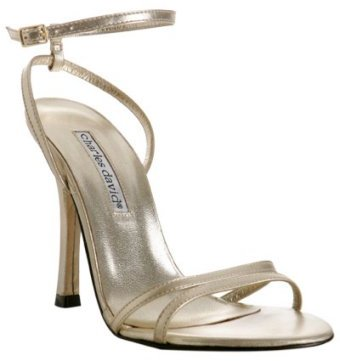 Charles David gold metallic leather 'Defy' sandals