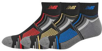 New Balance Mens Patterned Performance Ankle Socks