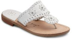 Jack Rogers Kid's Miss Palm Beach Leather Thong Sandals $69 thestylecure.com