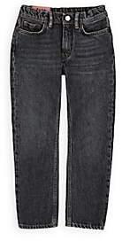 Acne Studios Kids' Washed 5-Pocket Jeans-Black