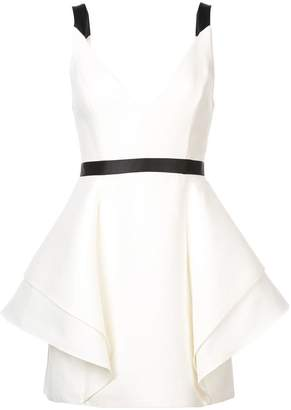 Halston full skirt mini dress