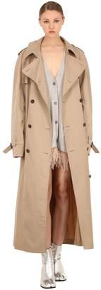 Maison Margiela Cotton Blend Gabardine Trench Coat