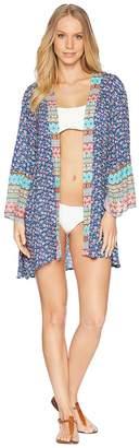 Laundry by Shelli Segal Patchwork Kimono Cover-Up Women's Swimwear