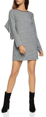 BCBGeneration Ruffled Striped Shift Dress