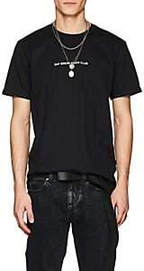 """Double Rainbouu Men's """"Moon Club"""" Cotton T-Shirt-Black"""
