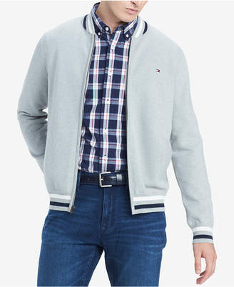 Tommy Hilfiger Men Big & Tall Regular-Fit Full-Zip Baseball Sweater