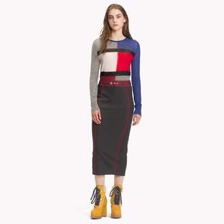 Tommy Hilfiger Sporty Jersey Midi Skirt
